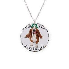 Basset Irish Kiss Necklace Circle Charm
