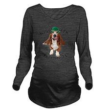 Basset Irish Kiss Long Sleeve Maternity T-Shirt