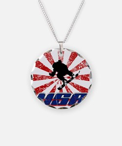 usa snowboard Necklace