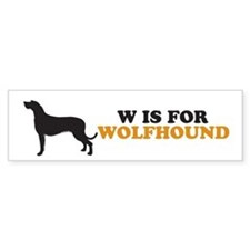 """W is for Wolfhound"" Bumper Car Sticker"