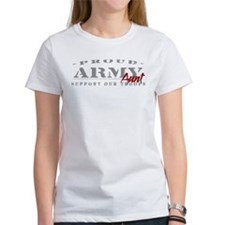 Proud Army Aunt (red) Tee