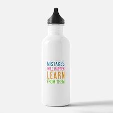 Cute Mistakes happen Water Bottle