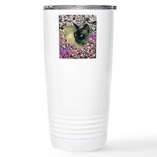 Stella Siamese Cat Flowers Travel Mug