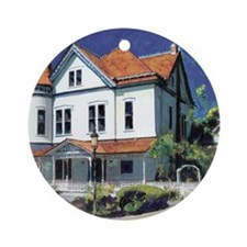 Victorian Mansion by RD Riccoboni Round Ornament