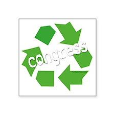 "Re-Cycle Congress-dark Square Sticker 3"" x 3"""