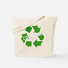 Re-Cycle Congress-dark Tote Bag
