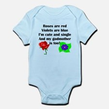 Cute And Single Godmother Poem Body Suit