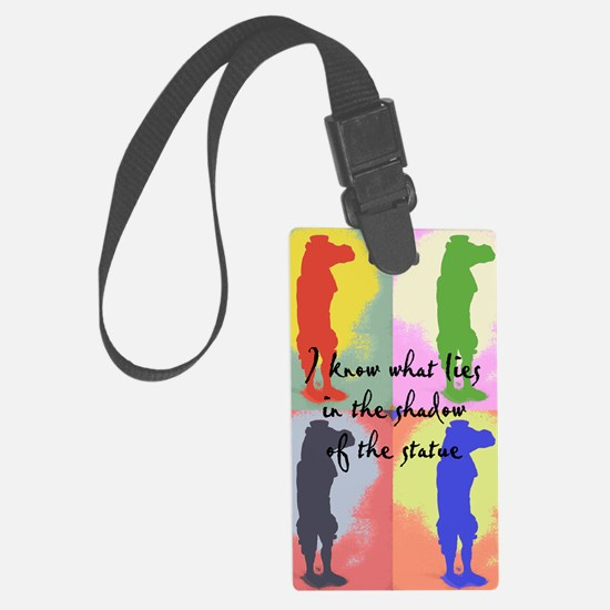 Lost statue shadow pop art light Luggage Tag