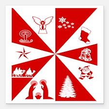 "Christmas Square Car Magnet 3"" x 3"""