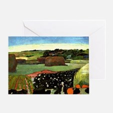 Gauguin: Haystacks in Brittany, Paul Greeting Card