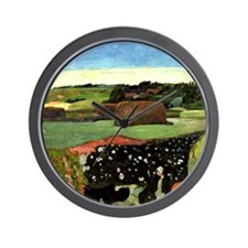 Gauguin: Haystacks in Brittany, Paul Ga Wall Clock