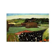 Gauguin: Haystacks in Brittany, P Rectangle Magnet