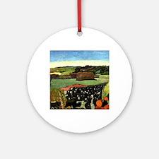 Gauguin: Haystacks in Brittany, Pau Round Ornament