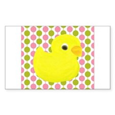 Rubber Duck on Pink and Green Decal