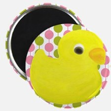 Rubber Duck on Pink and Green Magnets