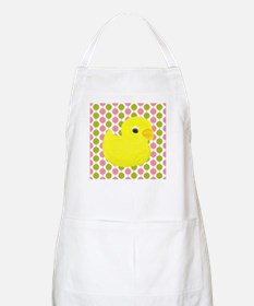 Rubber Duck on Pink and Green Apron