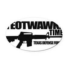 Teotwawki Oval Car Magnet