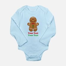 Personalize Little Gingerbread Man Long Sleeve Inf