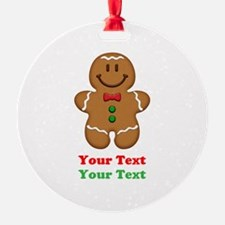 Personalize Little Gingerbread Man Ornament