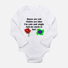 Cute And Single Uncle Poem Body Suit