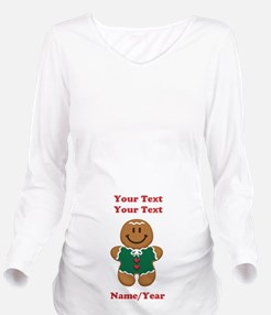 Personalize Gingerbread Baby [elf] Long Sleeve Mat