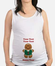 Personalize Gingerbread Baby [elf] Maternity Tank