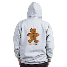 Gingerbread Man Bite Me Zip Hoodie