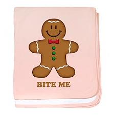 Gingerbread Man Bite Me baby blanket