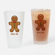Gingerbread Man Bite Me Drinking Glass