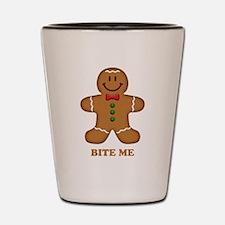 Gingerbread Man Bite Me Shot Glass