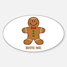 Gingerbread Man Bite Me Decal