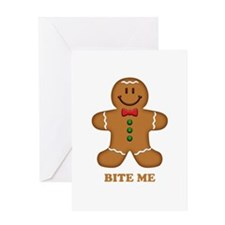 Gingerbread Man Bite Me Greeting Card