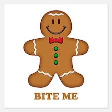 Gingerbread Man Bite Me Invitations