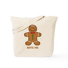 Gingerbread Man Bite Me Tote Bag