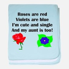 Cute And Single Aunt Poem baby blanket