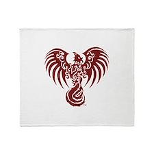 Large Red Phoenix Logo Throw Blanket