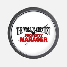 """The World's Greatest Property Manager"" Wall Clock"