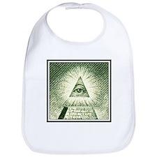 Pyramid Eye U.S. dollar logo Bib
