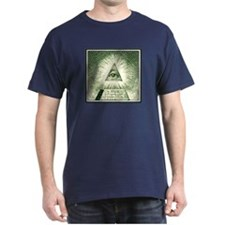 Pyramid Eye U.S. dollar logo Color T-Shirt