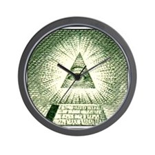 Pyramid Eye U.S. dollar logo Wall Clock