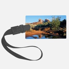cathedral reflection Luggage Tag