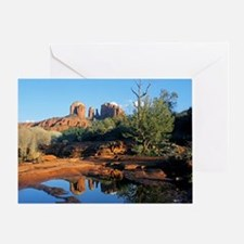 cathedral reflection Greeting Card