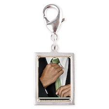 23x35_suit-up_v Silver Portrait Charm