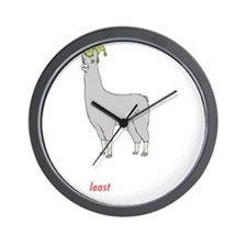 llama2-black Wall Clock