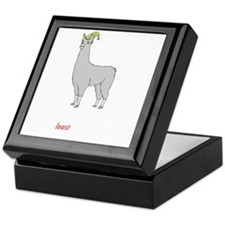 llama2-black Keepsake Box