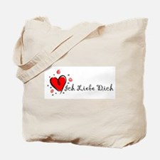 """I Love You"" [German] Tote Bag"