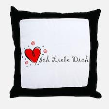 """""""I Love You"""" [German] Throw Pillow"""