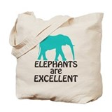 Save the elephants Canvas Totes