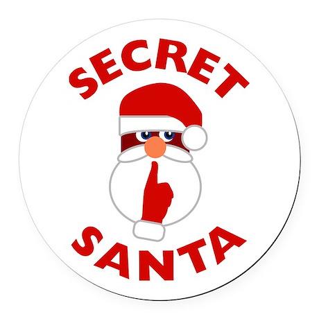 Secret Santa Round Car Magnet