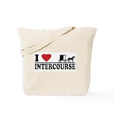 I Love Intercourse Tote Bag
